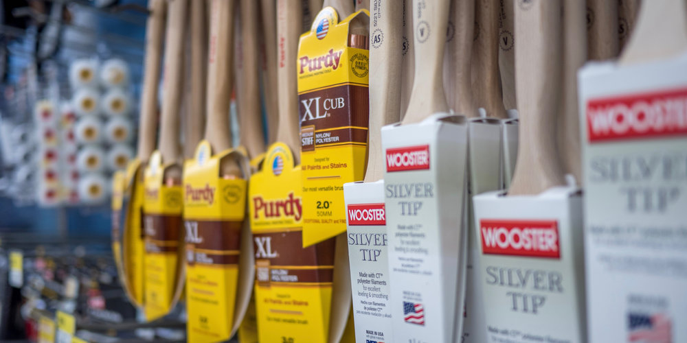purdy and wooster paint brushes
